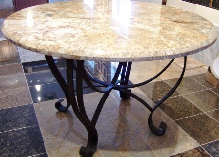 Wrought Iron Granite Table Top Dinning 999 00